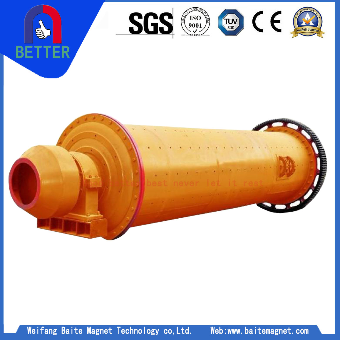 ISO Approved MBS Rod Mill Manufacturers For Thailand