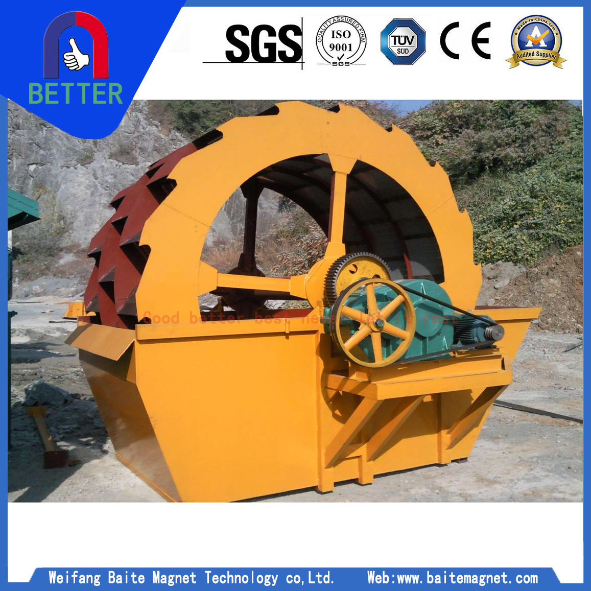 High Quality Sand Washing Machine For America